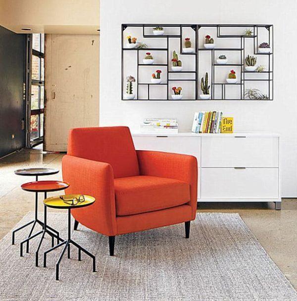 geometric living room