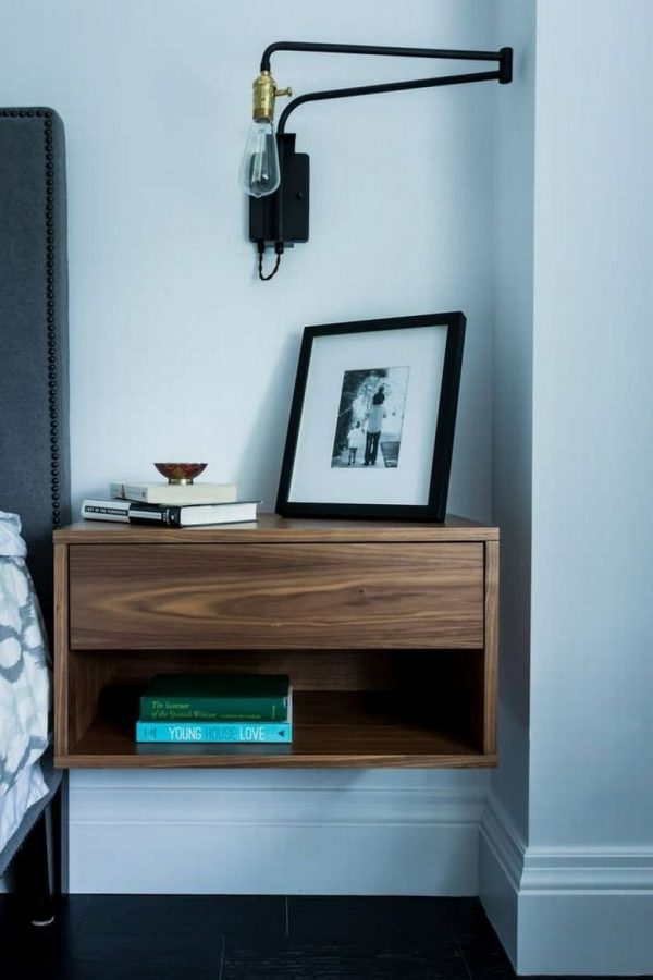 wall mounted side table
