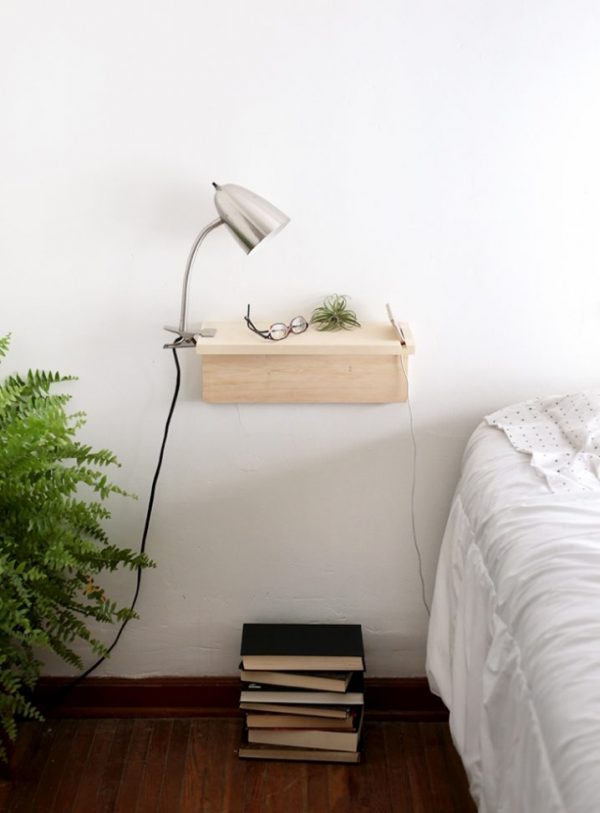 nightstand wall mounted