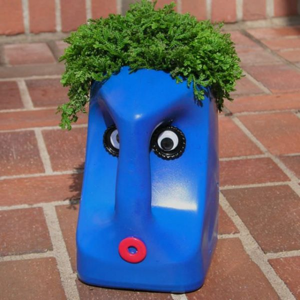Funny plastic bottle planter