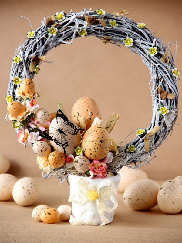 making easter wreaths