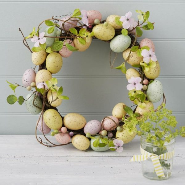how to make a easter egg wreath