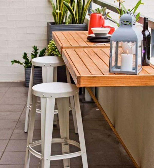 Space saving table for small balcony