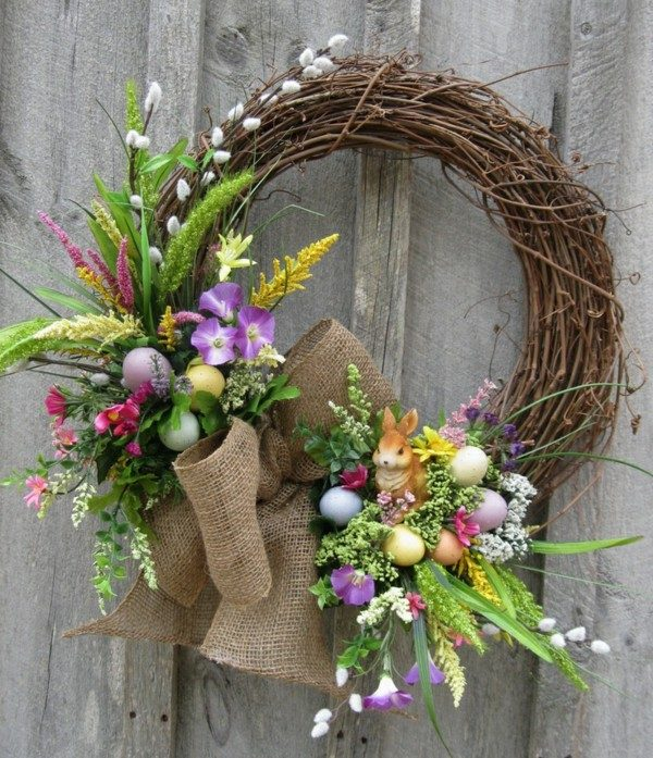 ideas for easter wreaths