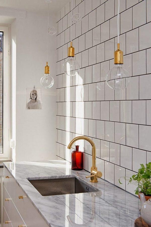 brass kitchen lights