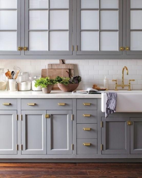 brass kitchen handles