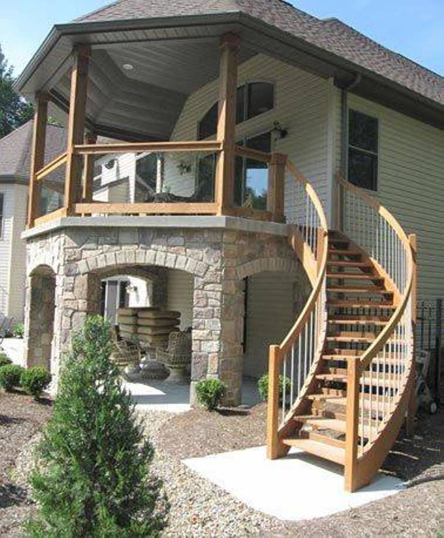 Superior Stunning External Staircase Designs For Homes Contemporary . 15 ...
