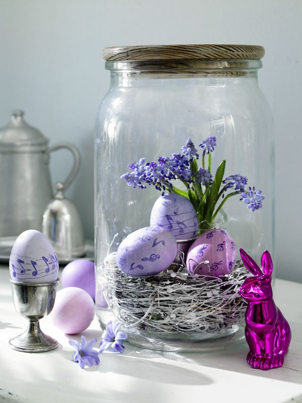 15 creative ideas for easter home decor littlepieceofme diy spring easter home decor egg shell vases pebbles