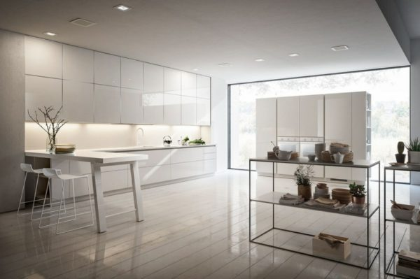 open white kitchen cabinets