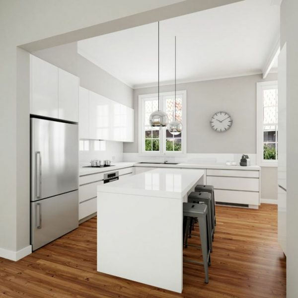 white modern kitchen designs