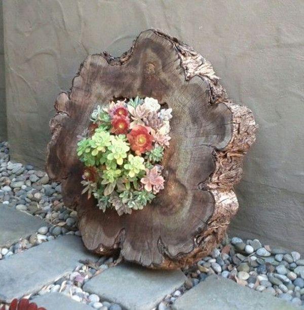 Tree Stump Flower Pot Little Piece Of Me