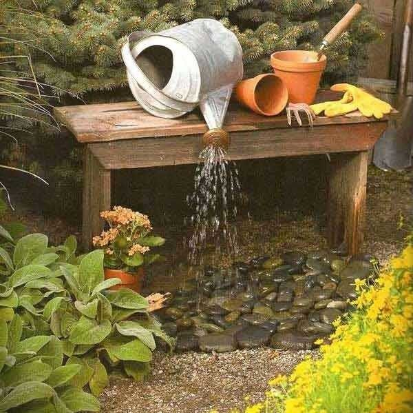 homemade fountain ideas