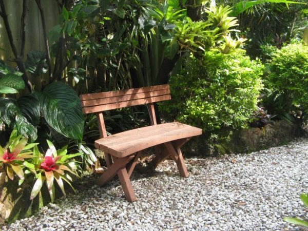diy garden bench with back