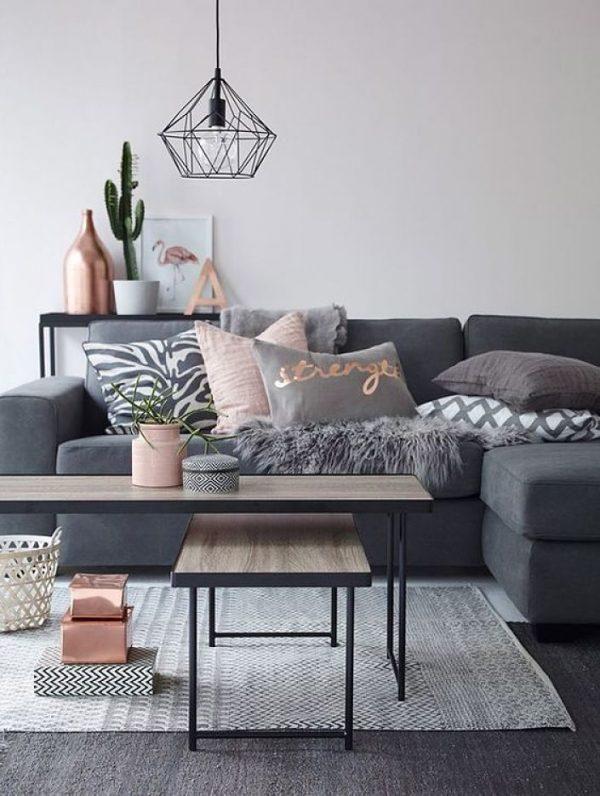 grey living room decor
