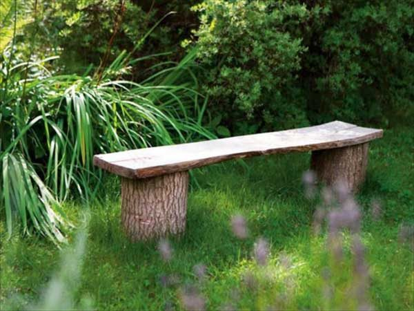 simple garden bench design