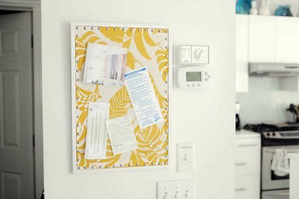 framed memo board