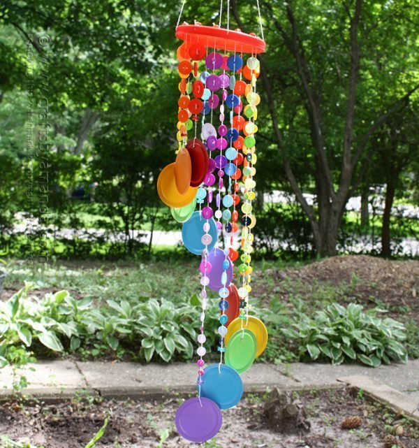 wind chimes using recycled materials