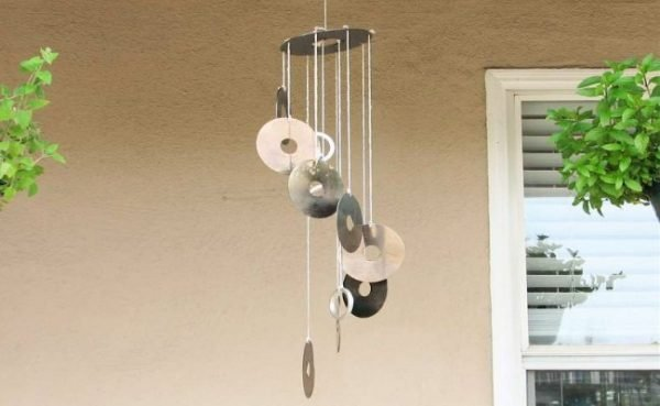 recycled wind chimes craft