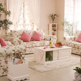 Shabby chic style living rooms