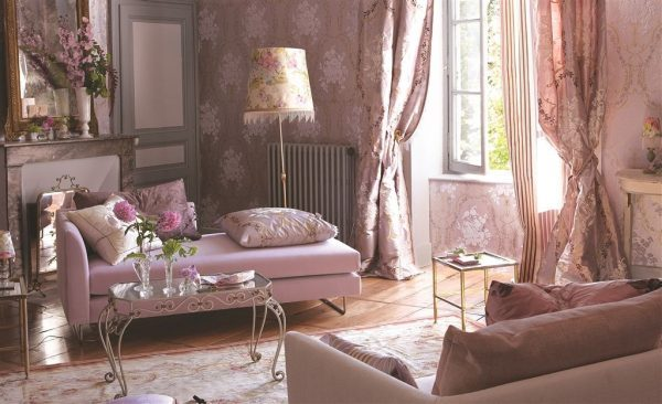 modern shabby chic living room