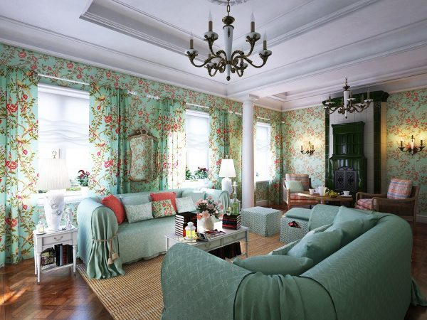shabby chic living room curtains
