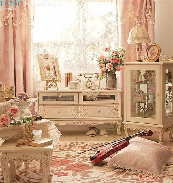 white shabby chic living room furniture