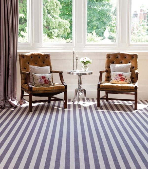 grey and white striped carpet