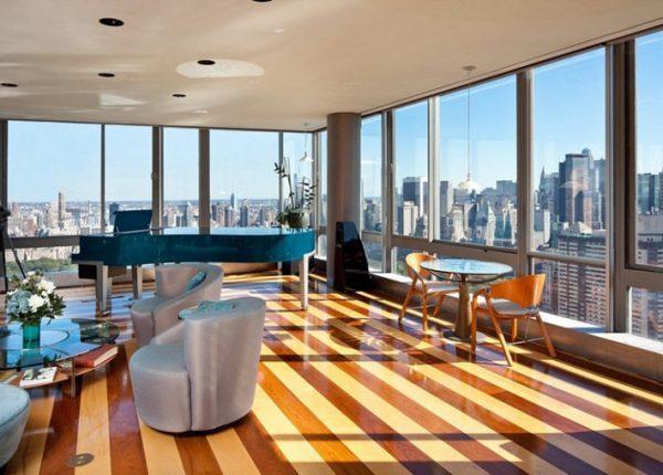 striped laminate flooring