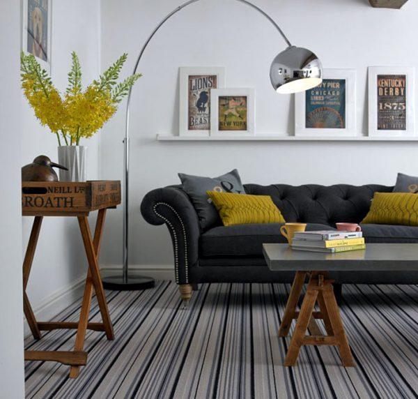 striped living room carpet