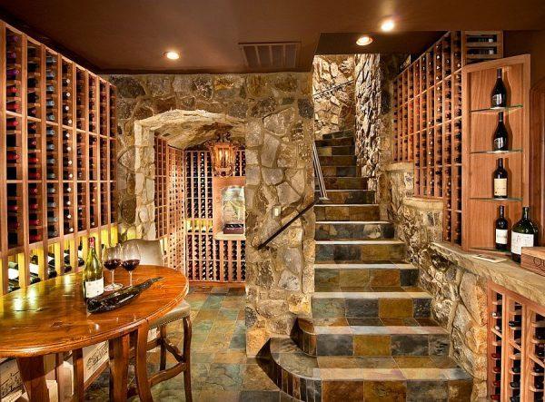 wine storage room design