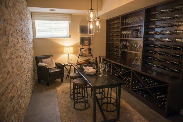 wine room cabinets