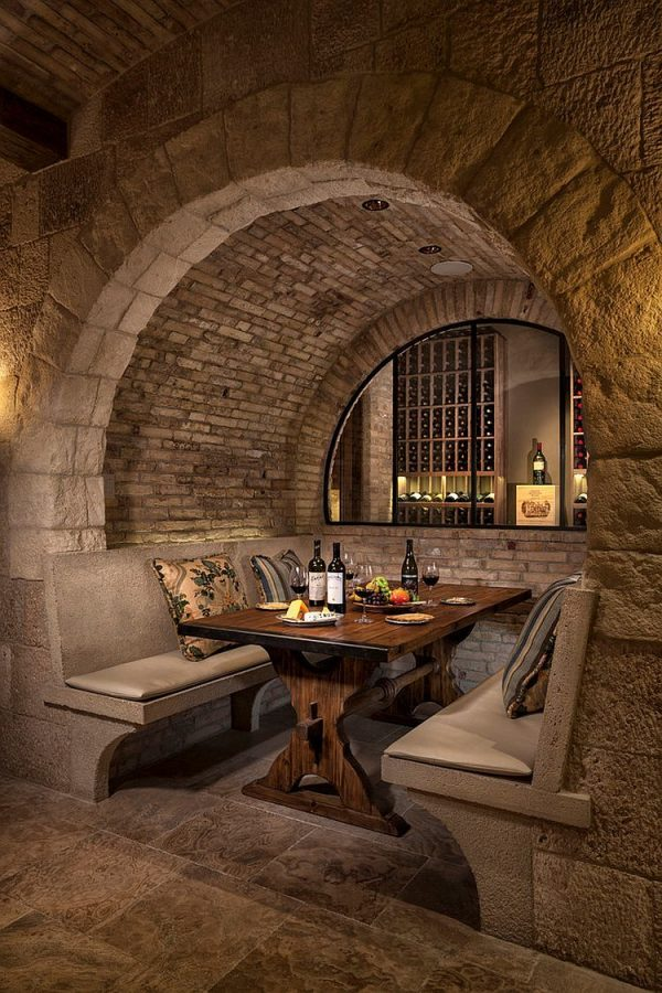 small wine room