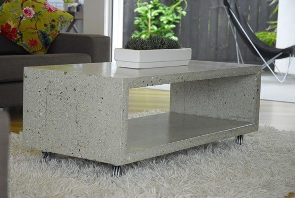 modern concrete table