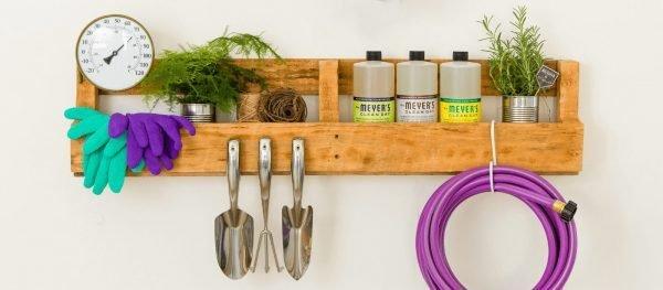garden tool holder rack