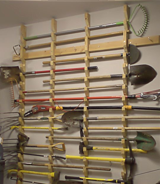 garden tool hanging rack