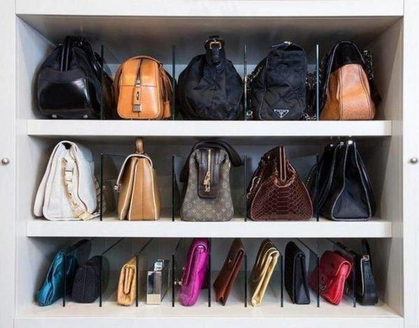 handbag shelf organizer
