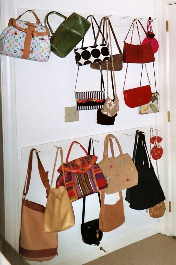 diy handbag storage ideas