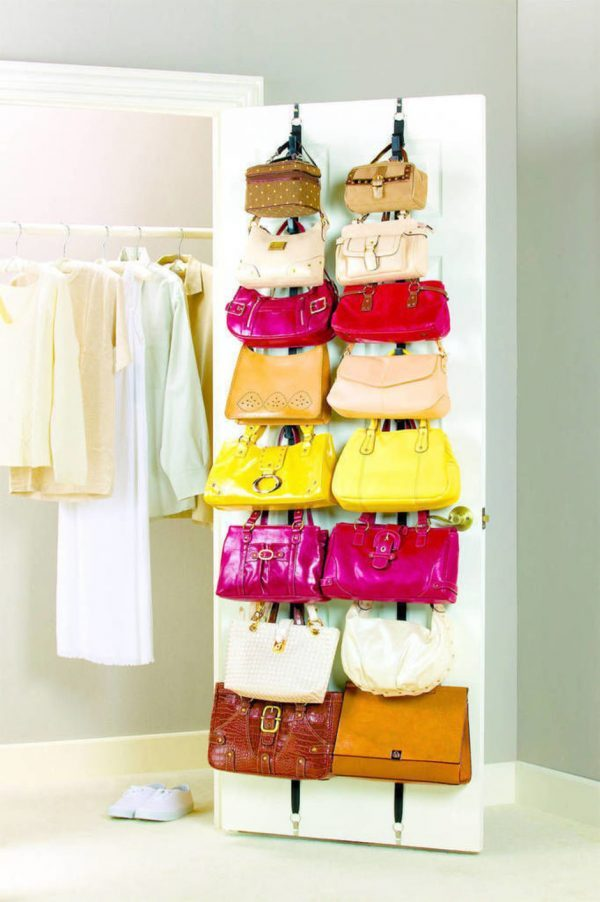 how to store handbags in a small space