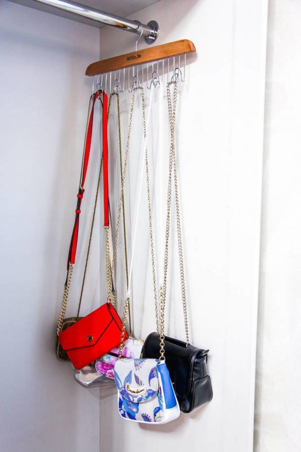 handbag closet storage