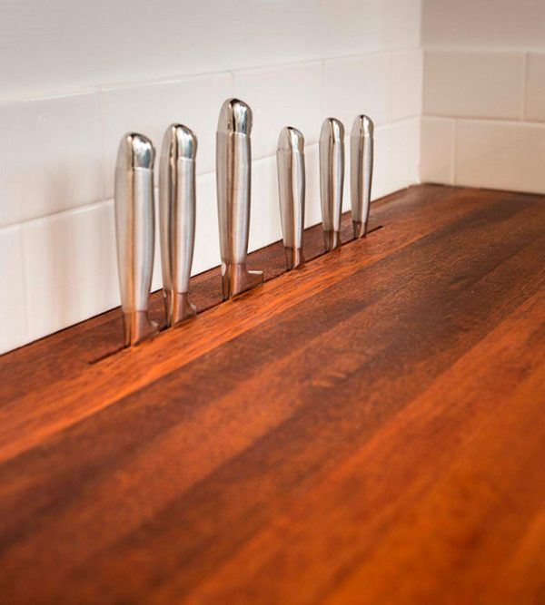 creative knife holders for kitchen littlepieceofme 10 creative ways to store kitchen knives