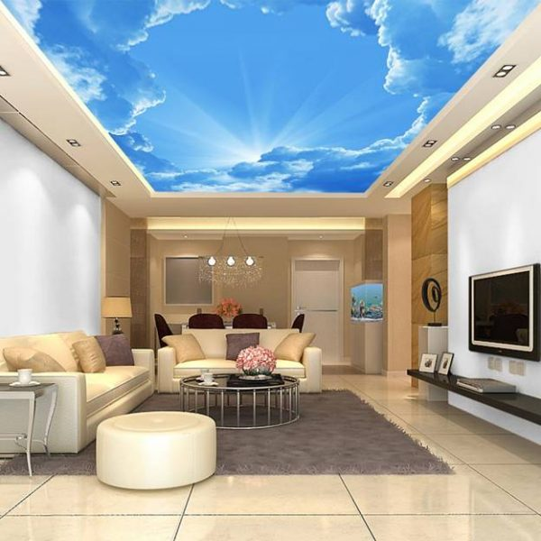 blue sky ceiling design