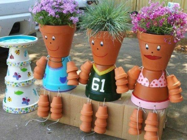 flower pot people garden ornaments