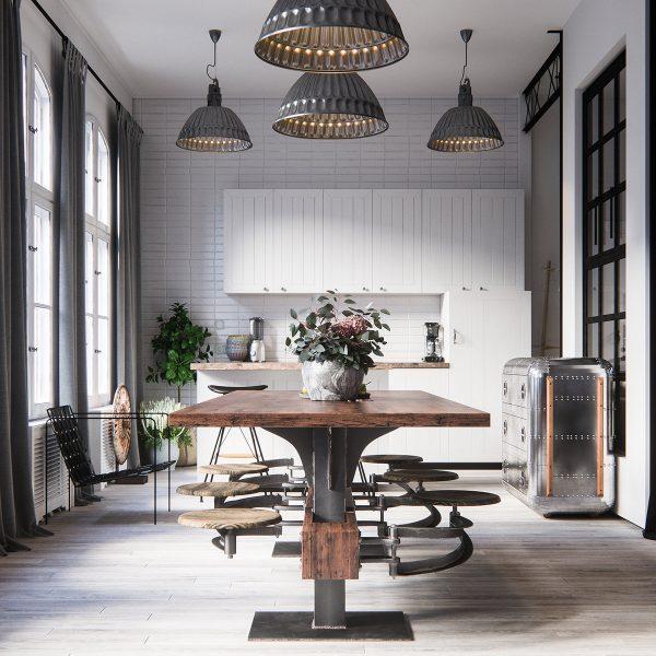 industrial kitchen style