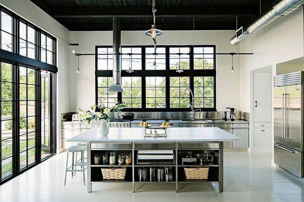 modern industrial kitchen