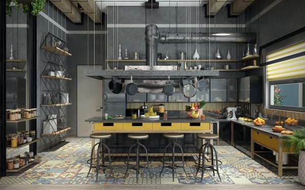 Industrial Look Kitchen