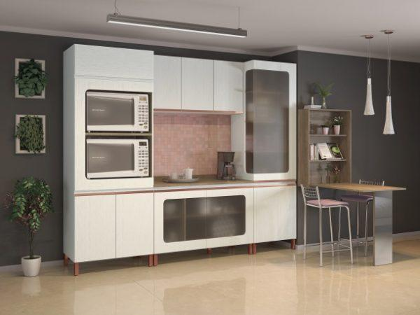 single wall modular kitchen