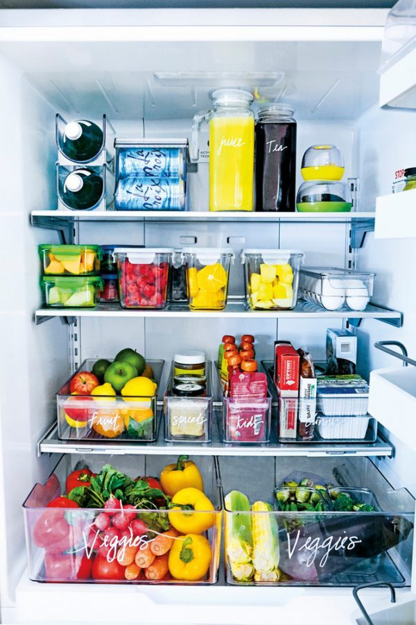 freezer organization containers