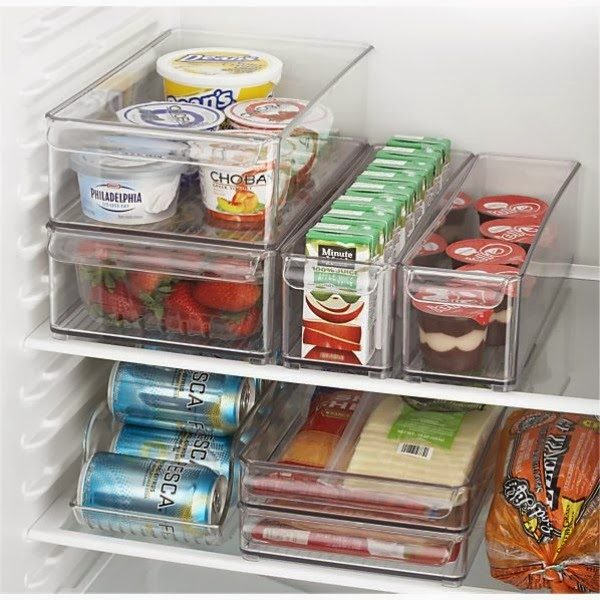 organised fridge