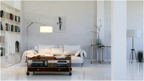 modern and vintage living room