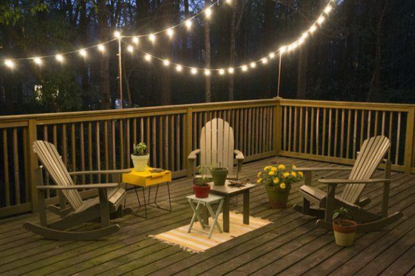 deck string lights